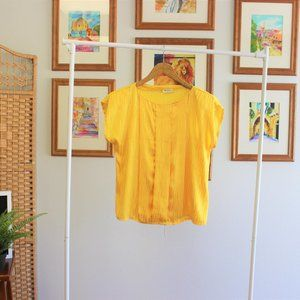 Vintage Yellow Blouse Sz Medium